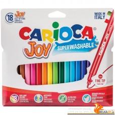 """КанцРЦ Фломастеры """"Joy"""" 18цв., картон.футляр, европодвес 40555"""